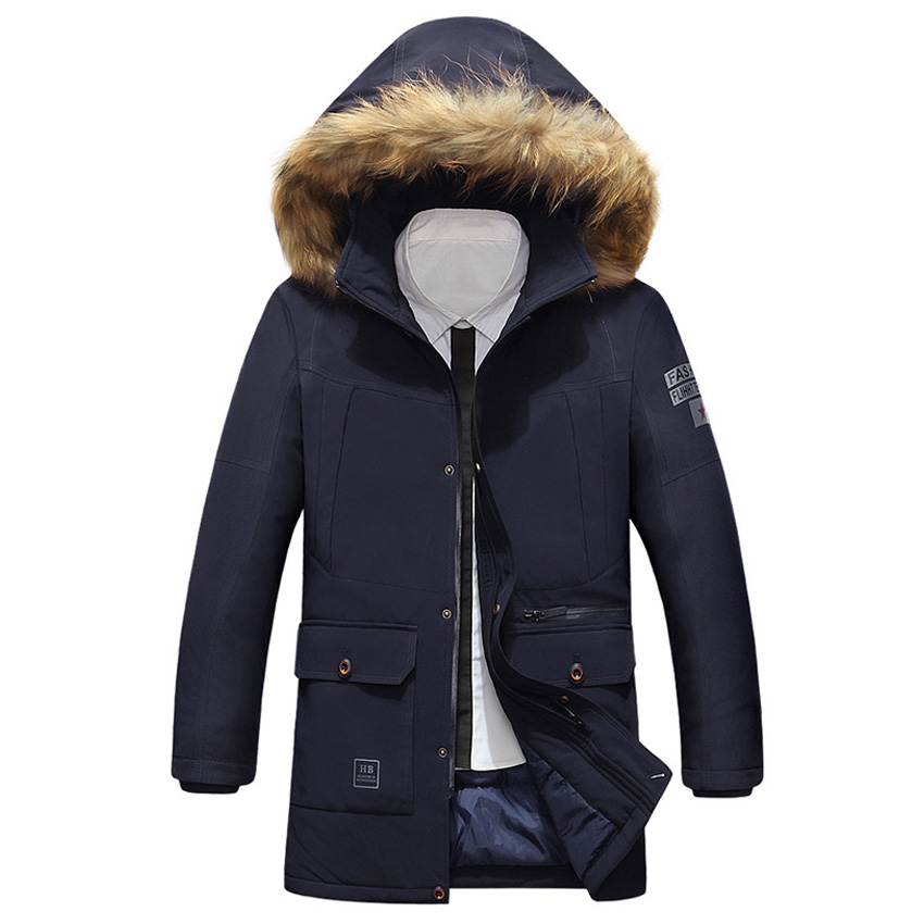 Winter men cotton-padded jacket male wadded hooded teenage outwear patchwork fur collar jacket thickening plus size parkas 293wy children thicken warm winter coat kids cotton padded jacket wadded outwear thickening boys girls fur hooded parkas clothes y105