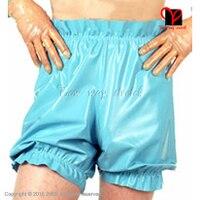 Latex Rubber Bermuda Cycling Tights Shorts Boxer Plain Panties Fetish Bondage Erotic Thongs Loosely Smocking Frill