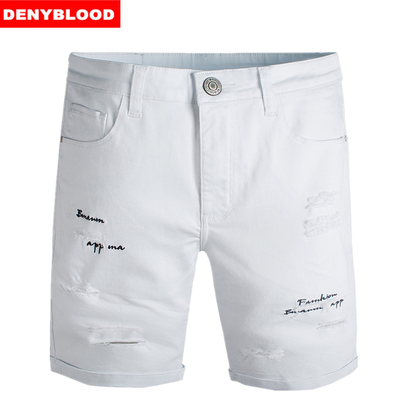Popular White Shorts for Men with Holes-Buy Cheap White Shorts for ...