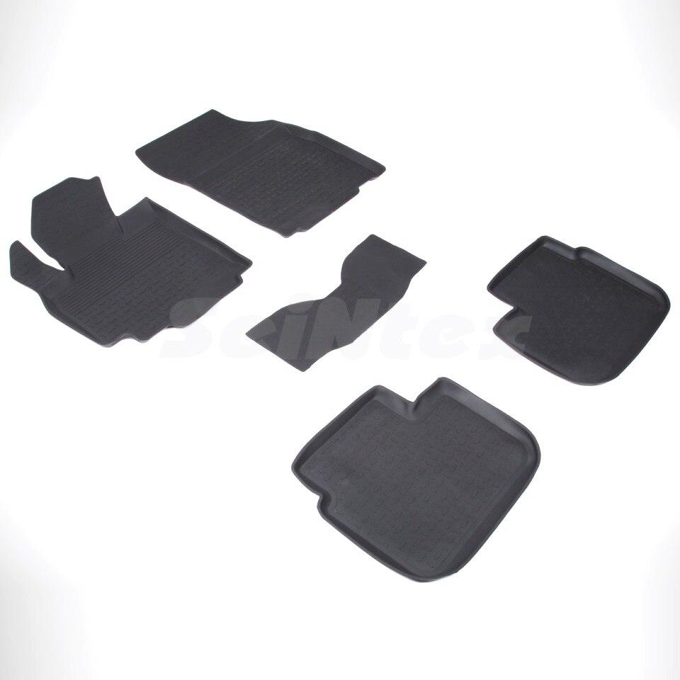 цена на Rubber floor mats for Suzuki SX4 2007-2013 1-generation Seintex 01530