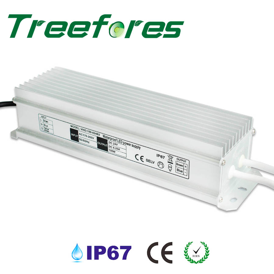 150W IP67 Outdoor Lighting Transformer DC 12V 24V Power Supply CE RoHS Driver Adapter dhl led power supply waterproof 150w 12v 24v rohs ce ip67 dhl fedex free shipping 5pcs lot