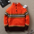 Novo botão de moda das Crianças camisola 100% algodão camisola criança bebê cardigan meninos camisola bonito da marca de Varejo