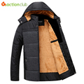 High Quality Winter Jacket Men Brand 2017 Warm Thicken Coat Plus size 4XL Famous Cotton-Padded Fashion Parkas Elegant Business
