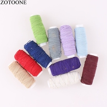 ZOTOONE 10Roll/Set Elastic Thread Set Sewing Machine Yarn Mixed Color Embroidery Threads for Jeans DIY Accessory D