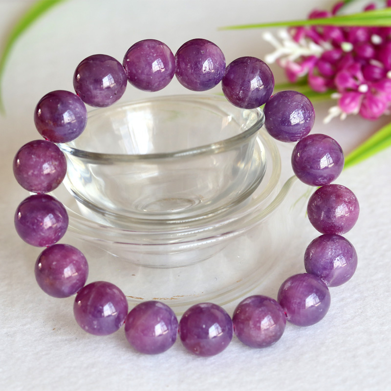 Wholesale Natural Genuine Purple Pink Ruby Bracelet Smooth Round beads Finished Stretch Bracelets 12mm Wholesale Natural Genuine Purple Pink Ruby Bracelet Smooth Round beads Finished Stretch Bracelets 12mm
