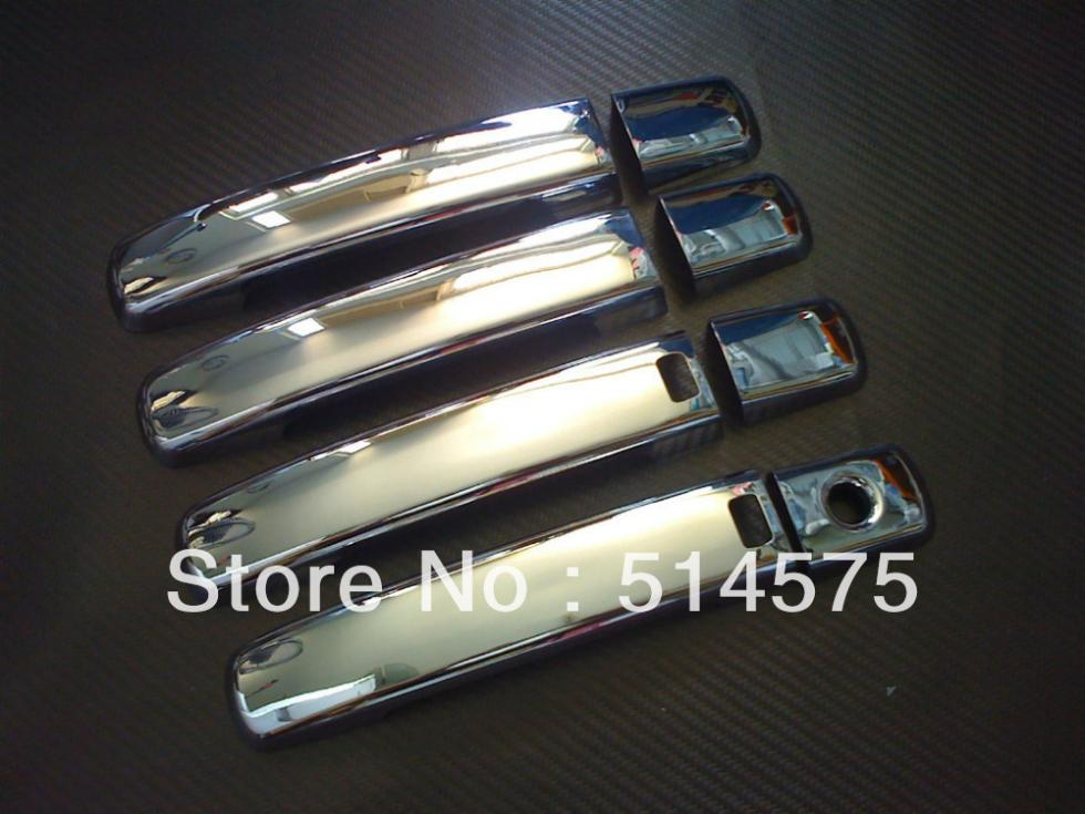 Hot! Tracking! For Nissan Qashqai 2008 2009 2010 2011 2012 ABS Chrome Door Handle Cover trim with smart key hole car rear trunk security shield shade cargo cover for nissan qashqai 2008 2009 2010 2011 2012 2013 black beige