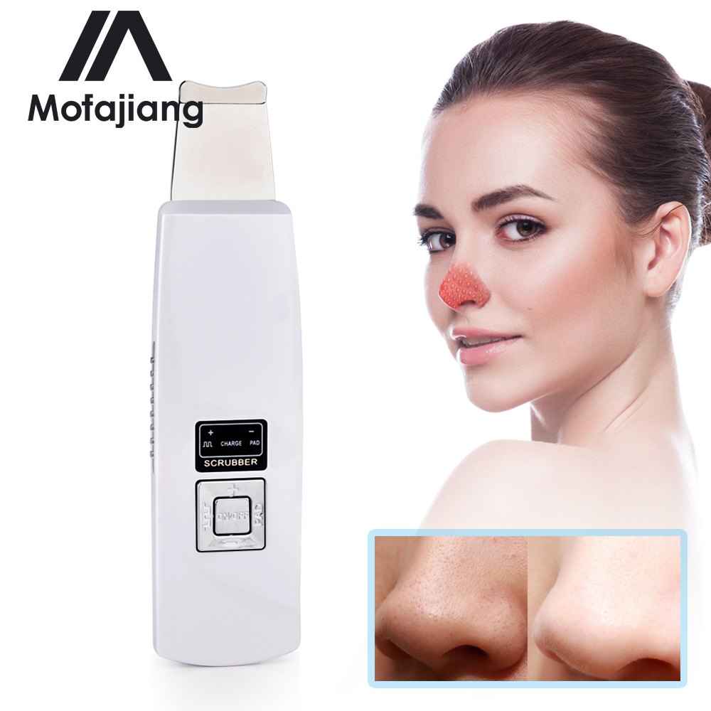 Ultrasonic Skin Scrubber Spatula Blackhead Removal Pore Cleanser Deep Face Cleaning Skin Peeling Machine Spa Beauty Instrument
