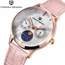 2019 pagani design marca de luxo senhoras relógio moda quartzo esportes relógios couro relógio de pulso casual das mulheres relojes mujer