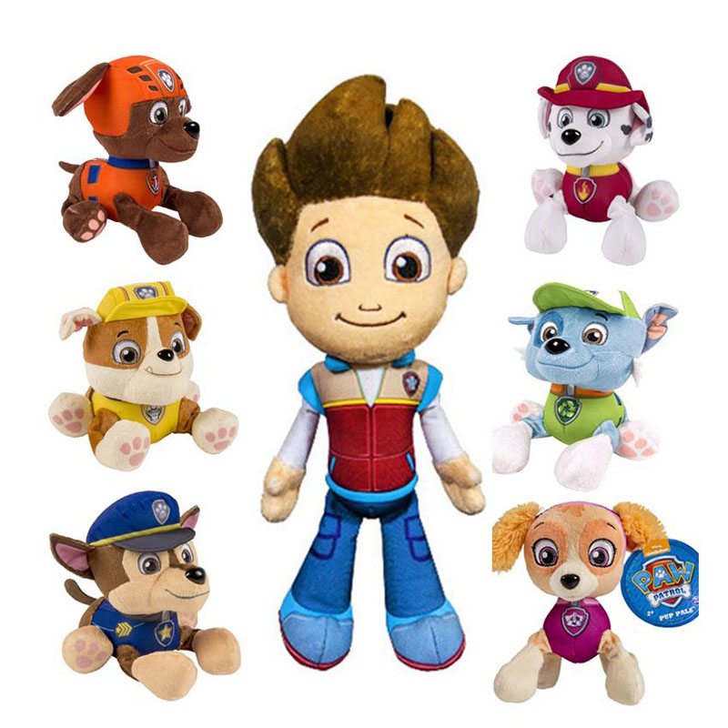 Wholesale 20cm Paw Patrol Animal Canine Anime Plush Toy Assistance Cartoon Puppy Stuffed Doll Kids Toys