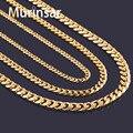 Largura 3.6mm/5mm/7mm Corrente De Ouro De Aço Inoxidável Homens Colar de Ouro Cheias Ligação De Aço Inoxidável Colar de corrente Frete Grátis