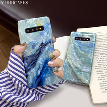 YHBBCASES For Samsung Galaxy S10 5G S8 S9 Plus Retro Marble Soft Cases Note 10 8 9 Fashion Conch Shell Phone Cover