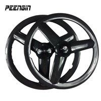 Cycles Part Carbon Tri Spoke Wheel Clincher 700C Road Bike Tubular Fixed Gear Bicycle 3 Spoke