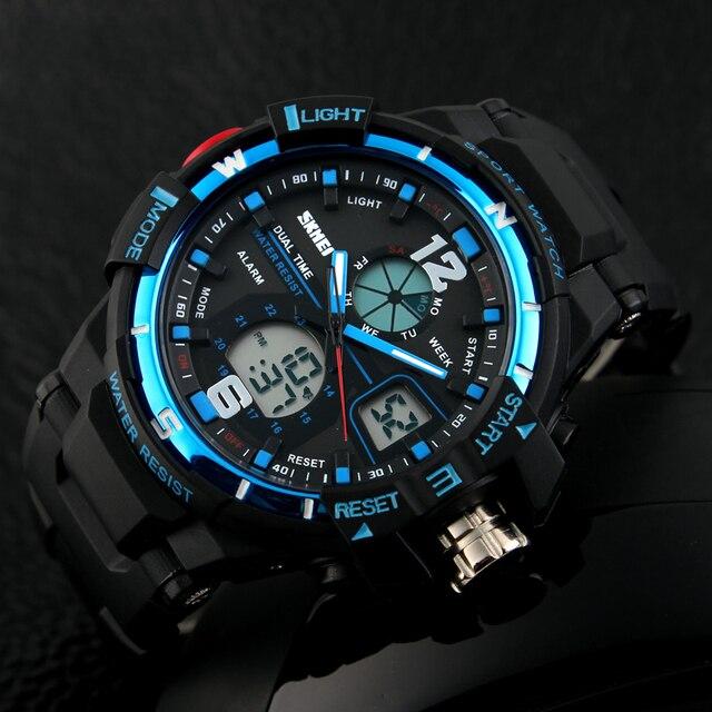 Skmei marca de relojes de moda los hombres g estilo impermeable militar deportes relojes hombres de lujo de cuarzo analógico reloj digital de choque 1148