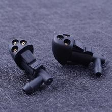 DWCX черный 2 шт. 3 отверстия Омыватель лобового стекла автомобилей рычаги стеклоочистителя распыления воды насадка подходит для Chevrolet Cruze 2009 2010 2011 2012 2013