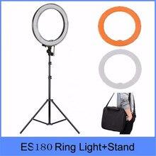 5500 К затемнения Фото Видео привели фото кольцо света комплект LED 180 фотоаппарата светодиодное освещение Fotografia кольцевая лампа Штатив для DSLR