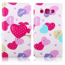 Funny Cute Sweet Fashion Wallet Flip Style PU Leather Case For Samsung GALAXY E7 E700F E7000 Phone Bag Cover Card Holder