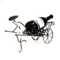 Novo Criativo Humano Rickshaw Vinho Cremalheira Do Vinho Do Ferro Do Vintage Vento Ornamentos Artesanato Artigos de Mobiliário de Decoração para Casa Presentes