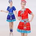 Trajes de danza folclórica china Yi ropa Hmong Miao ropa traje étnico trajes de rendimiento etapa trajes de las minorías nacionales