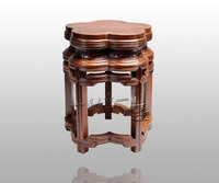 Chinese Ming&Qing Classical Furniture Burma Rosewood Bench Antique Plum flower Type 5 Foots Stools Solid Small Seats at home