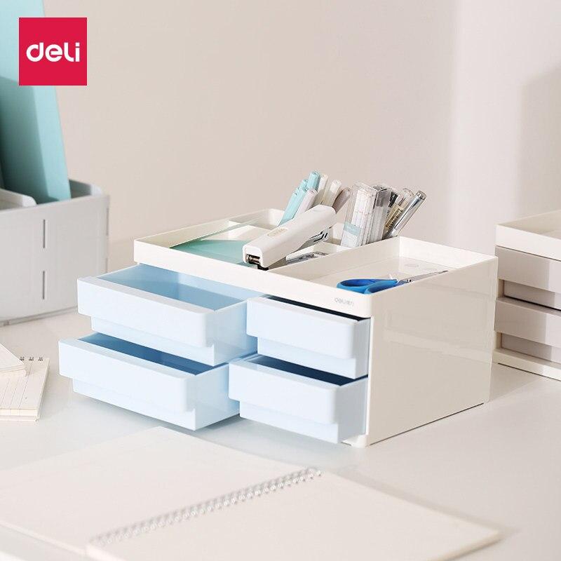Multifunction Storage Box Desktop Pen Holder Cosmetic Container Box Desk Pen Pencil Organizer Office School Supplies 8904