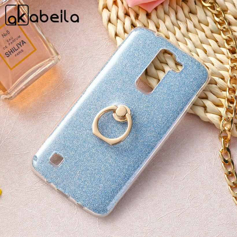 AKABEILA Phone Cover Case For LG K7 LTE Tribute 5 LS675 MS330 5.0 inch K7 Dual SIM K7 M1 Case Glitter Silicone TPU Cover Bags