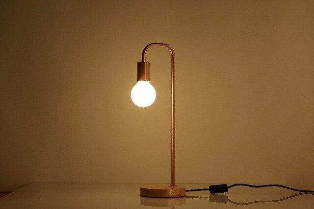 Aliexpress Buy Retro Coffee Shop Table Lamp Wood Vintage – Light Bulb Desk Lamp