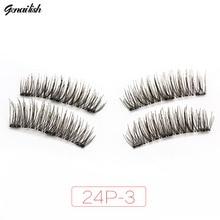 Beauty Health - Makeup - Genailish 3 Magnet 6D Magnetic Eyelashes Magnet Magnetic Lashes Magnetic False Eyelashes Magnetic Eye Lashes Makeup 24P-3