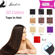 Grade 8a Brazilian Virgin Hair Straight Natural Tape Hair Extensions Remy Skin Weft Straight Hair 16-24inch 20pieces The Best