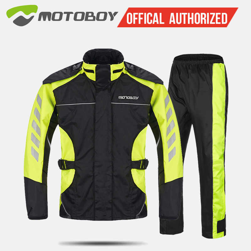 Rain coat Outdoor sports jacket motorbike raincoat suit motorcross Impermeable waterproof Fishing raincoat MOTOBOY  RJ01 P 01