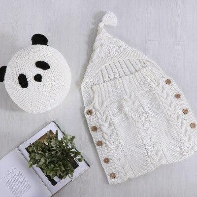 Toddler Wool Knit Blankets Swaddle Sleep Sack Stroller Wrap Newborn Baby Wrap Swaddle Kids Sleeping Bag Baby Swaddling 50*80cm