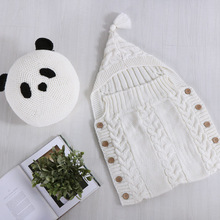 цены на Toddler Wool Knit Blankets Swaddle Sleep Sack Stroller Wrap Newborn Baby Wrap Swaddle Kids Sleeping Bag Baby Swaddling 50*80cm  в интернет-магазинах