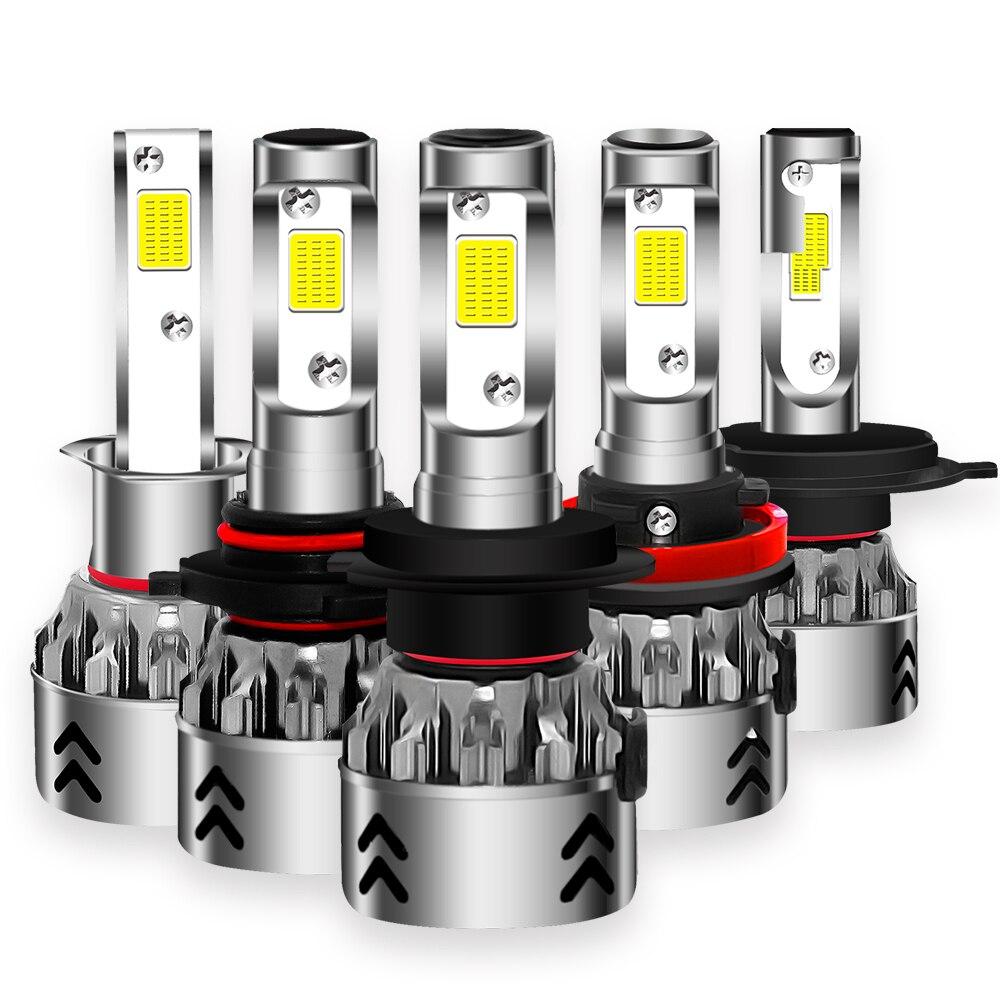 2018 neue 12000LM H7 Led 12 v 6000 karat H4 Scheinwerfer Lampen H1 H8 H9 H11 9005 9006 HB3 HB4 cob Chips Auto Licht Scheinwerfer Mini Größe