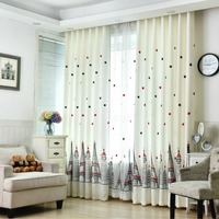 Window Curtains For Kids Living Room Bedroom Modern Pattern With Star Castle Tulle Blackout Curtains For