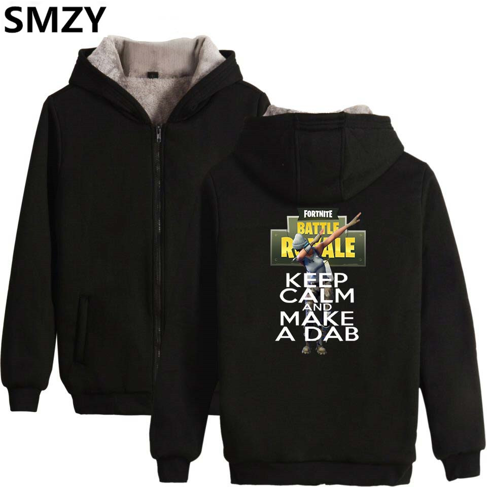 SMZY Fortnite Hoodies Womens Zipper Winter Thicken Cotton Funny Fans Sweatshirt Long Sleeve Popular TGA FPS Game Zipper Clothes