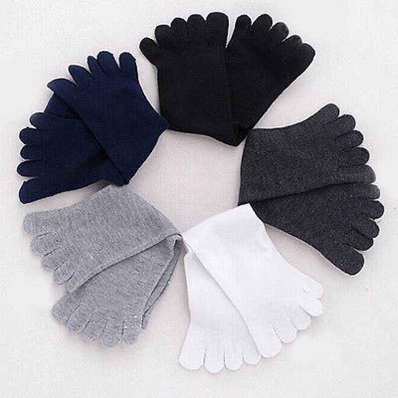 1 пара унисекс носки осень-зима теплые удобные мужские и женские носки с пятью пальцами из чистого мягкого хлопка