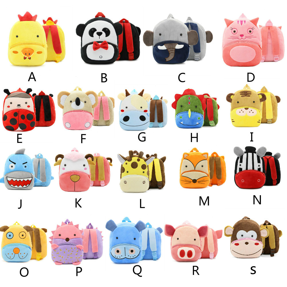 High Quality Children Bag Plush Cartoon Toy Baby Backpack Boy Gril Bags Gift For Kids Backpacks mochila escolar Blush Toys