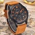 Mens relojes de primeras marcas de lujo de los hombres del deporte militar luminoso reloj benyar cronógrafo de cuero reloj de cuarzo relogio masculino