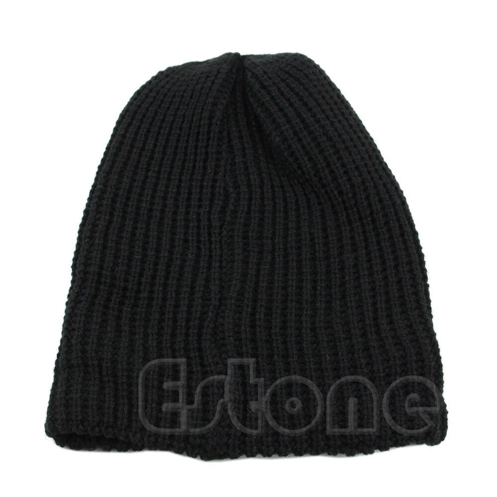 Chic Men Women Warm Winter Knit Ski Beanie Skull Slouchy Oversize Cap Hat Unisex new men women warm winter knit beanie skull slouchy oversize cap hat unisex