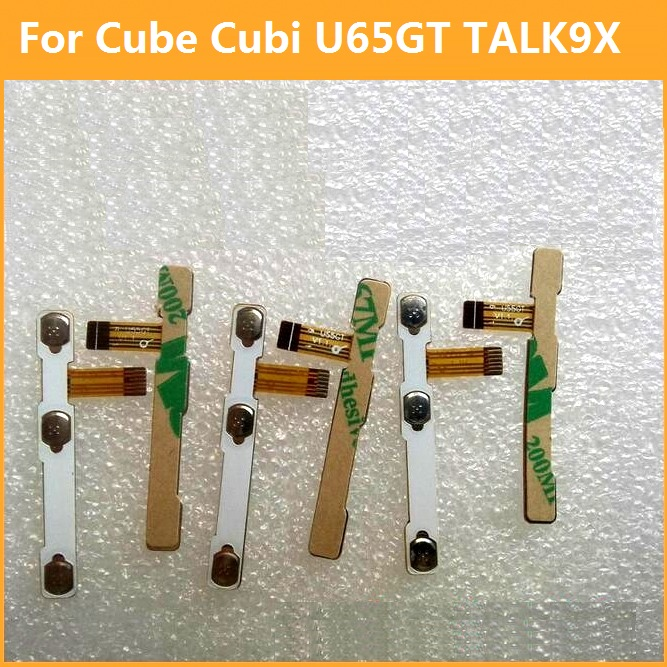 Premium switch on off Power Volume button Flex cable For Cube Cubi U65GT TALK 9X conductive flex with sticker replacement parts power switch key vibration motor vibrator replacement flex cable for samsung galaxy note 3 n9000