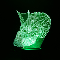 Oobest 3D LED Night Light Lamp Modern Style Color Changing Led Table Desk Light 3d Illusion