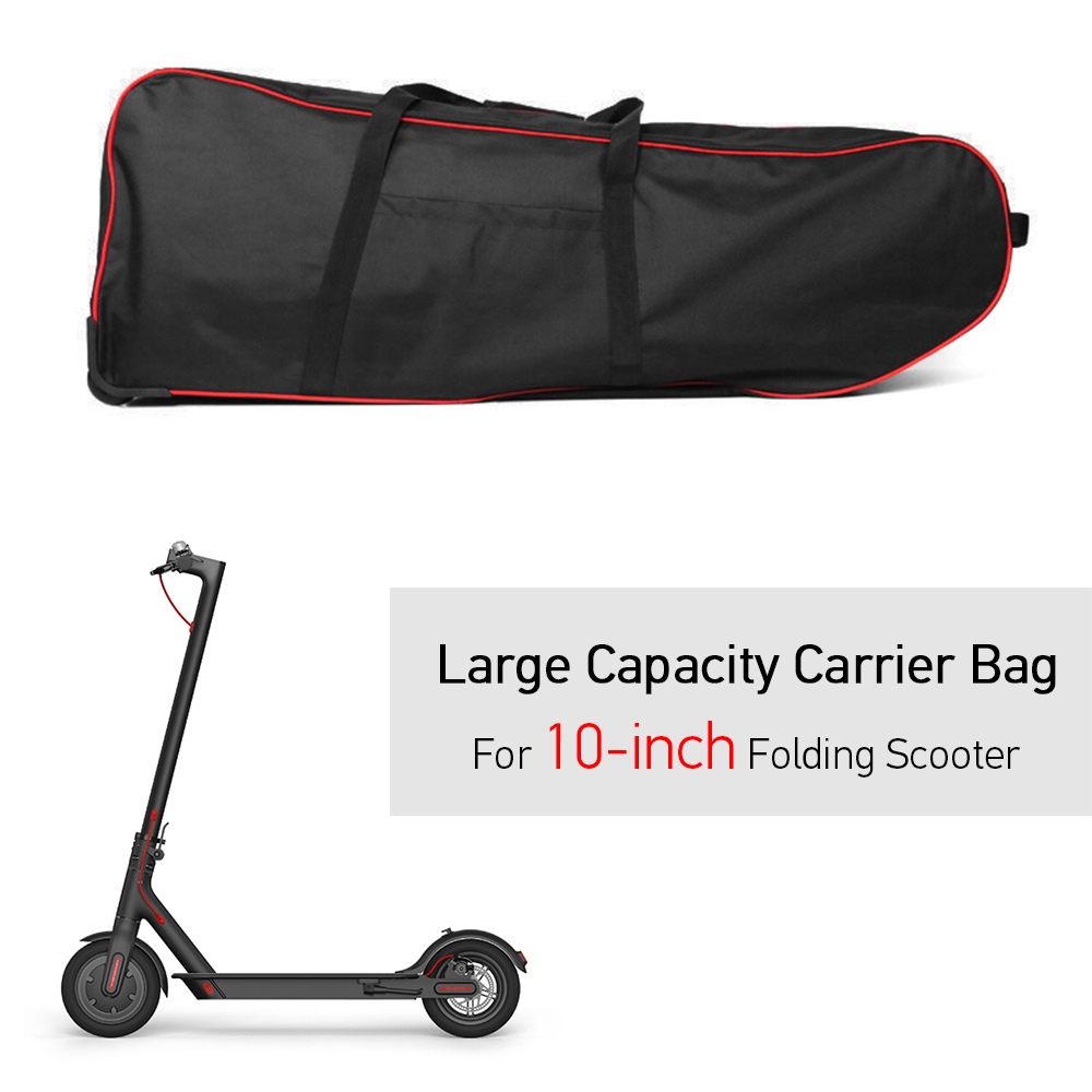 Sac de Transport pliable de Scooter de grande capacité pour le sac de Transport pliable de transporteur de Scooter électrique de 10 pouces avec des roues
