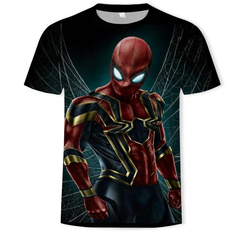 2019 Summer 3D Iron Spiderman T Shirt Marvel Avengers Men T-Shirt Compression