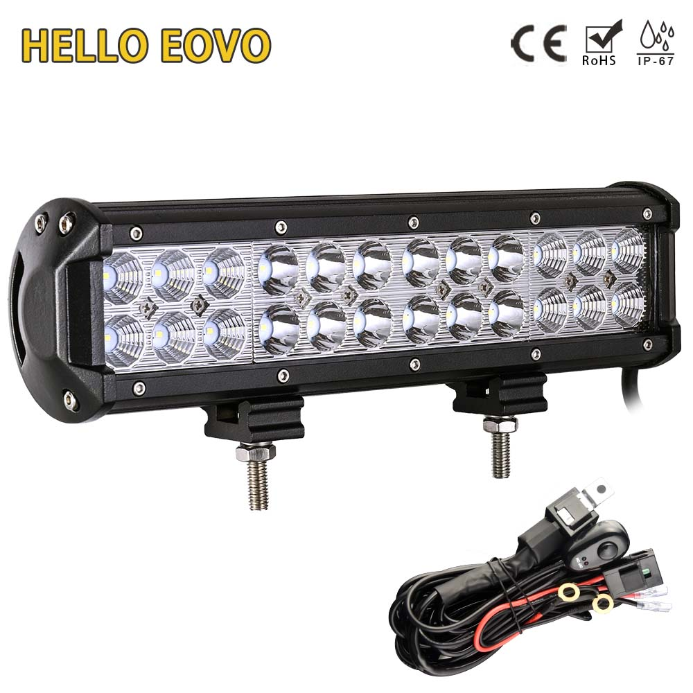 hello eovo 12 inch 72 w led verlichting bar bedrading kit voor off road werk