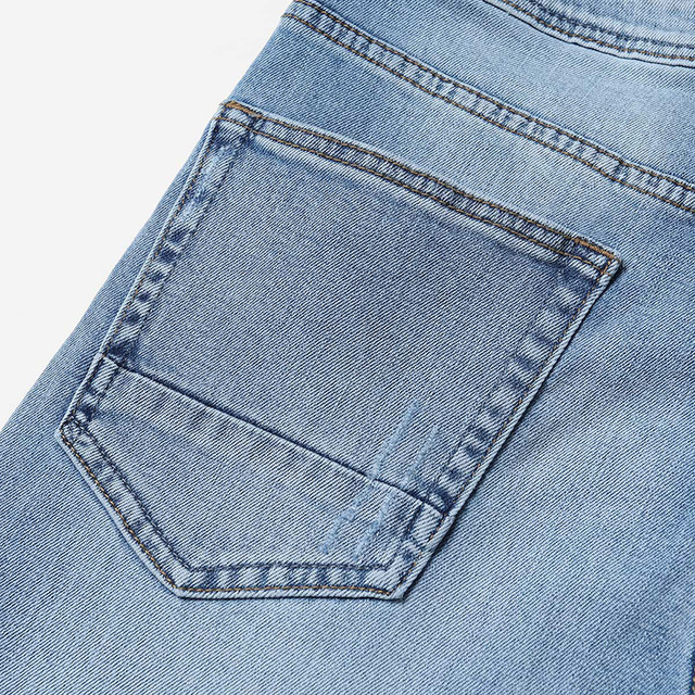 Ripped Slim Fit Ankle-Length Jeans for Men 5