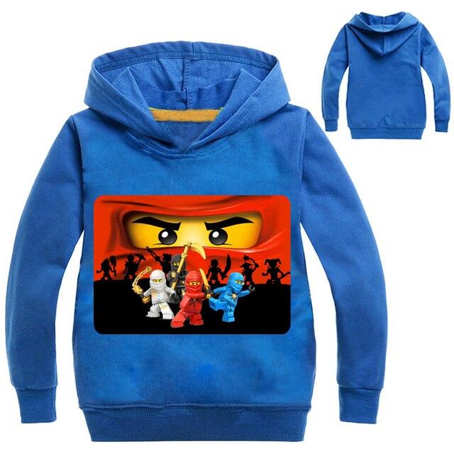Novos Meninos Outwear Hoodies Dos Desenhos Animados Ninja Ninjago Ninjago  Trajes Roupas T camisas Camisolas das a8744d2b210c3