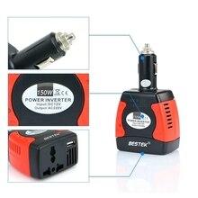 BESTEK 150 Вт DC 12 В В ПЕРЕМЕННОЕ 220 В Универсальный Автомобильный Адаптер инвертор адаптер питания авто зарядное устройство для iphone/samsung/ipad автомобильное зарядное устройство dc AC