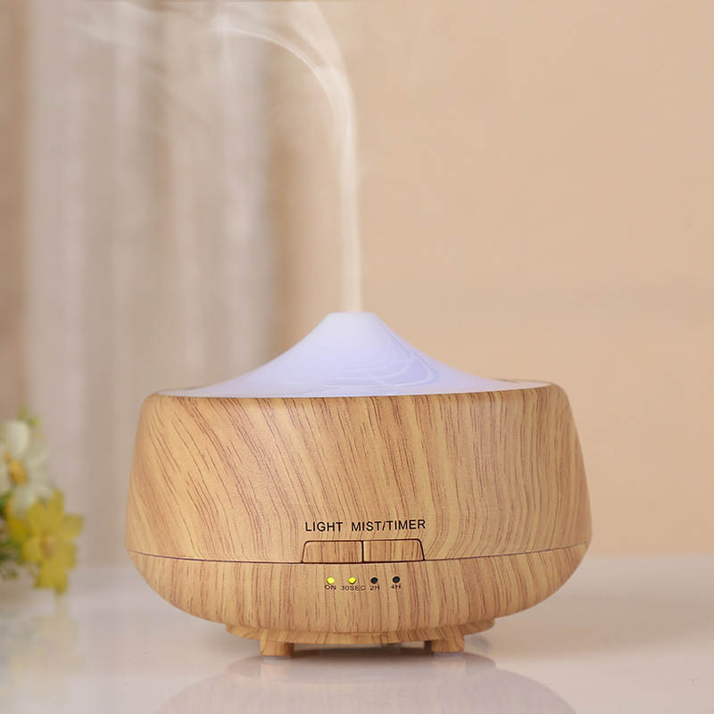 2017 New Wood Mini Air Humidifier Ultrasonic Mist Maker Aroma Essential Oil Diffuser Colorful LED For Home Free Shipping 300ml colors changable led light essential oil aroma diffuser ultrasonic air humidifier mist maker for home& bedroom