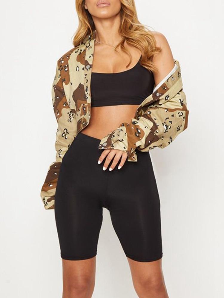 Women's Summer Bodycon Yo-ga Biker Sports   Shorts   High Waist Elastic Booty   Shorts   2019 New Arrival Quick Drying   Shorts   Mujer