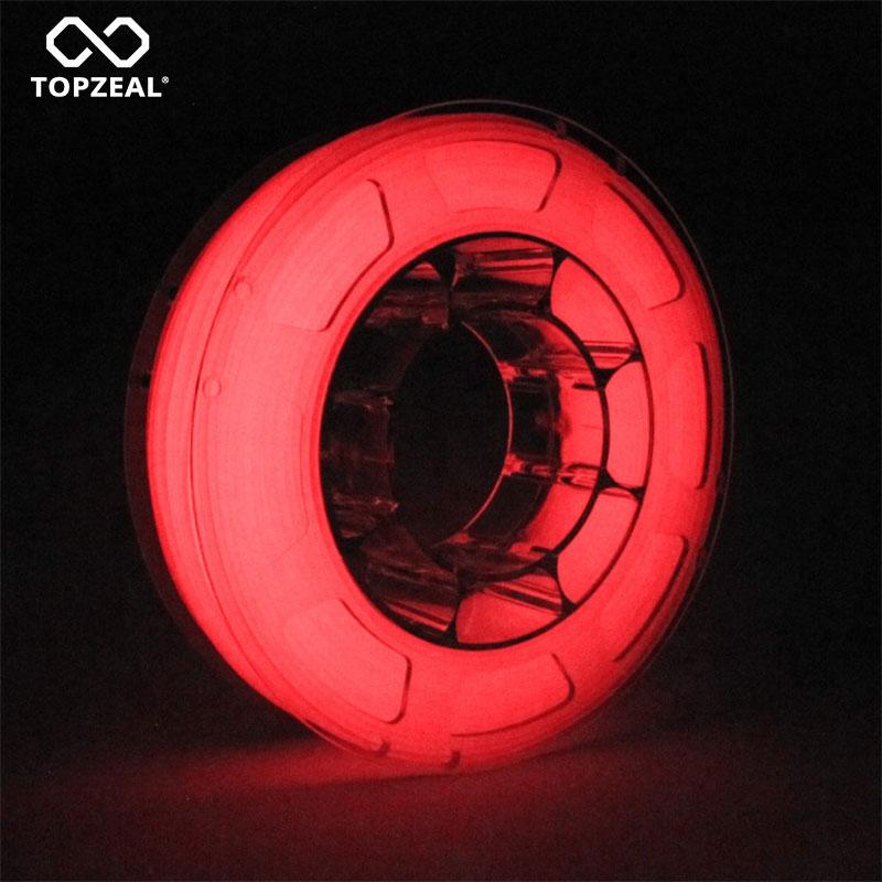 TOPZEAL 3D Printer PLA Luminous Color Filament Dimensional Accuracy 0 05mm 1KG Spool 1 75mm