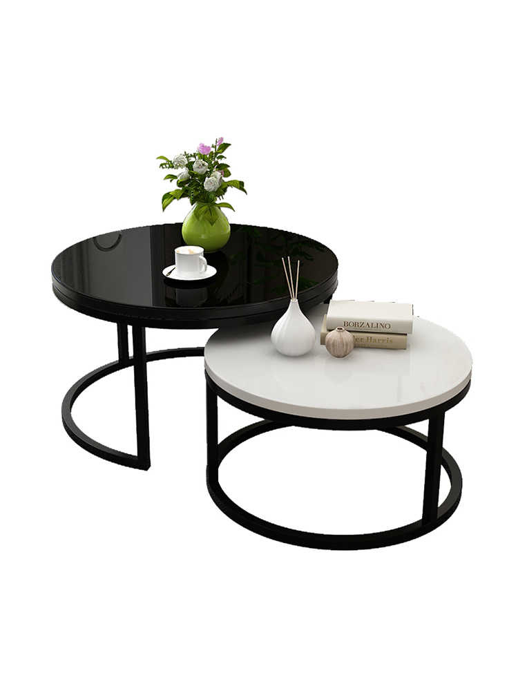 nordic wooden tea table modern living room tempered glass tea tables small family simple mini balcony round table